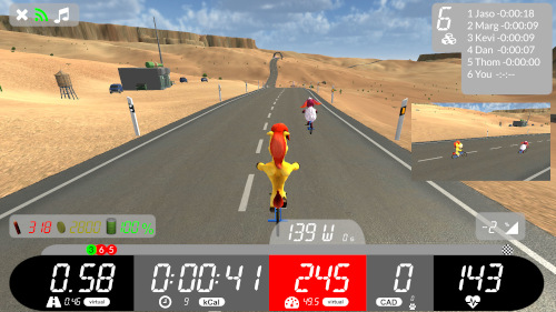 Arcade Fitness Indoor Cycling app screenshot