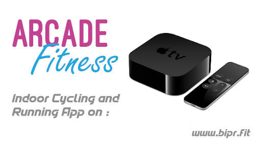 Arcade Fitness Indoor Cycling app on Apple TV