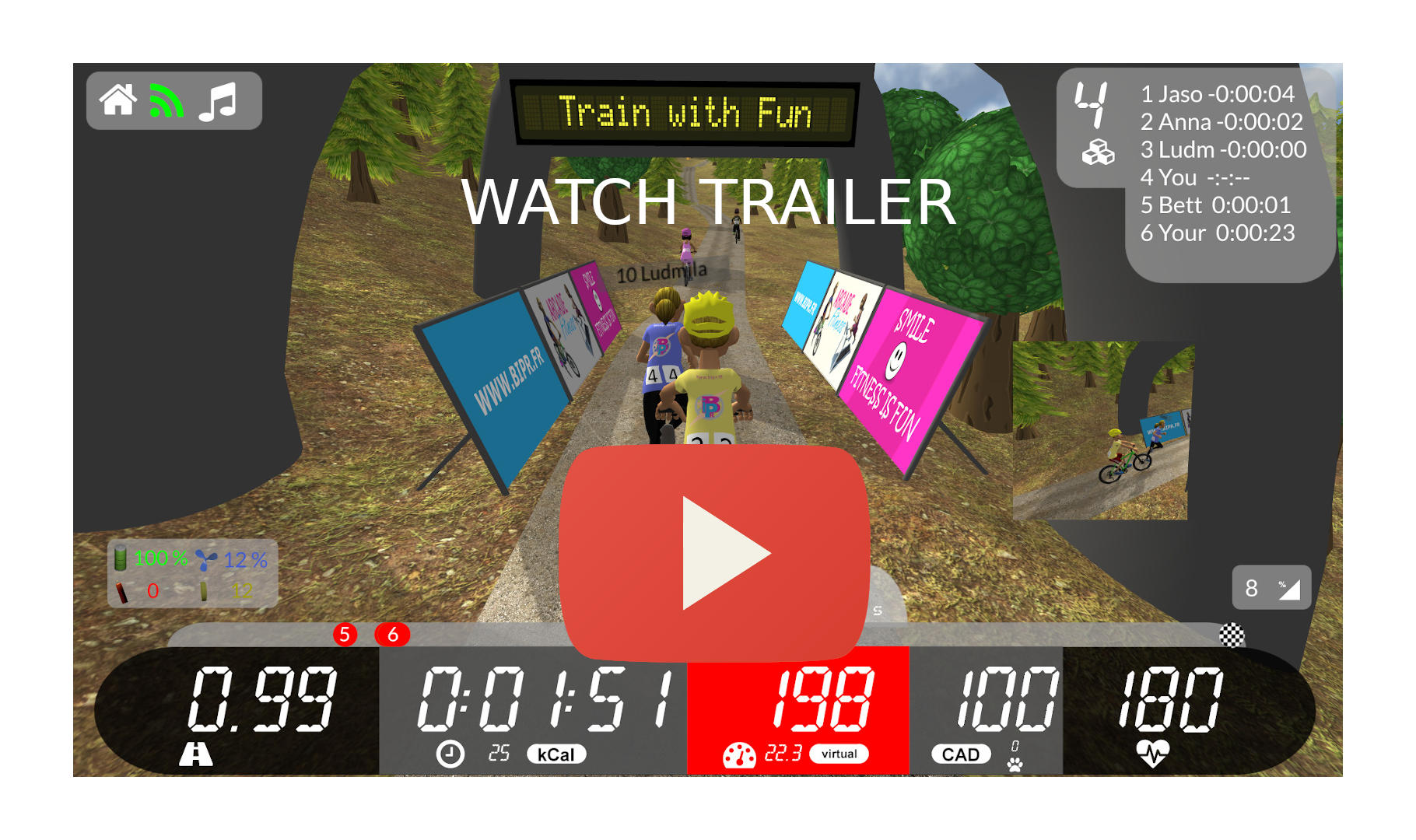 Arcade Fitness Indoo Cycling and Running App Trailer