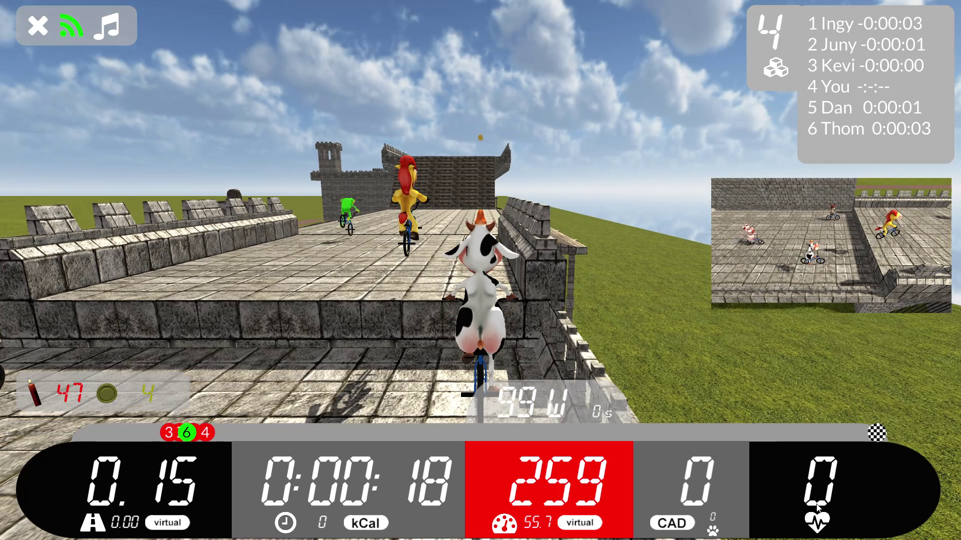 Arcade Fitness Castle level