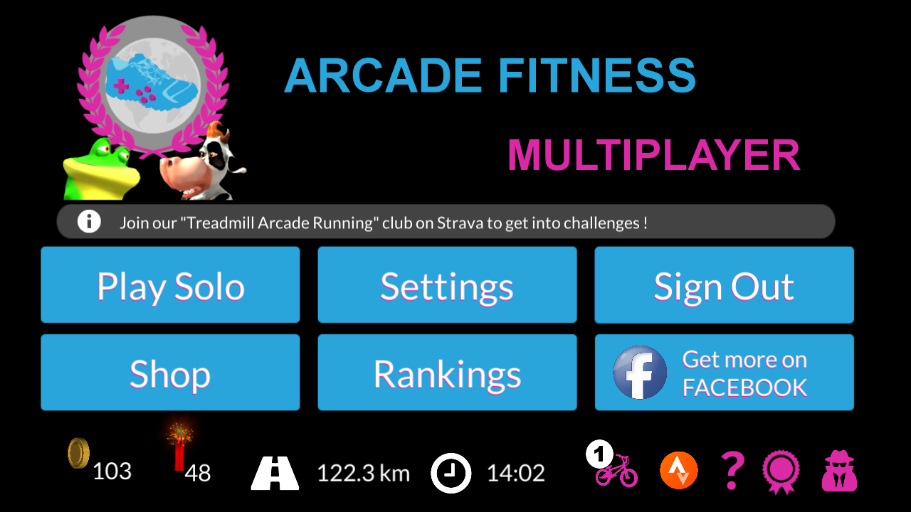 Arcade Fitness with Home Trainer