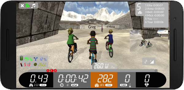 Arcade Fitness virtual sport app - Cycle or Run indoor