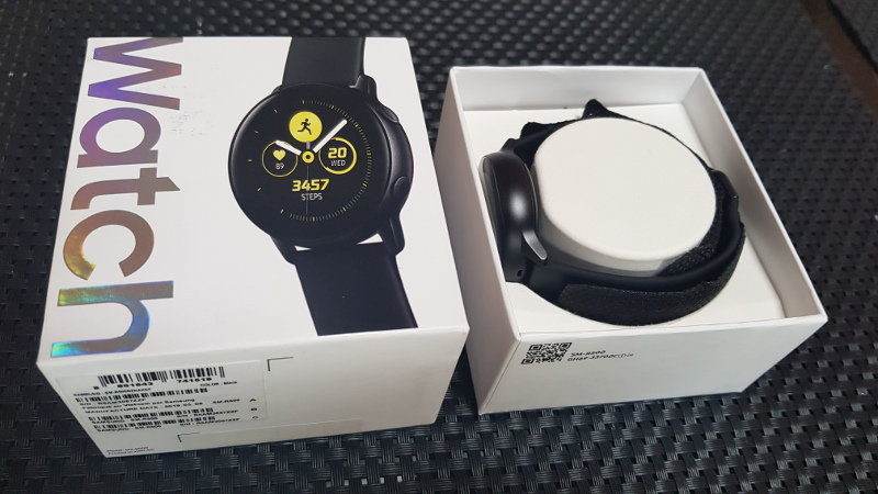 Samsung Galaxy active watch unbox closed