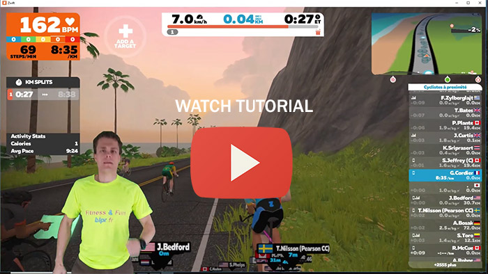 You Tube tutorial, how to brodcast heart rate to Zwift from Samsung watch