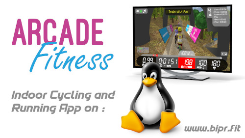 Arcade Fitness Indoor Cycling and Running App available on linux
